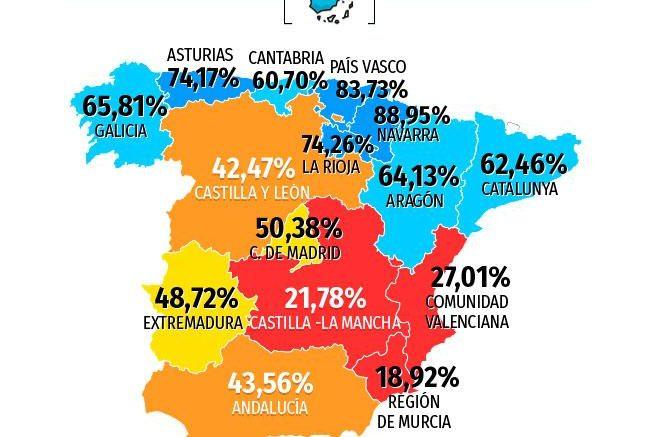 Map Of Spain La Mancha.Castilla La Mancha Progressive Spain